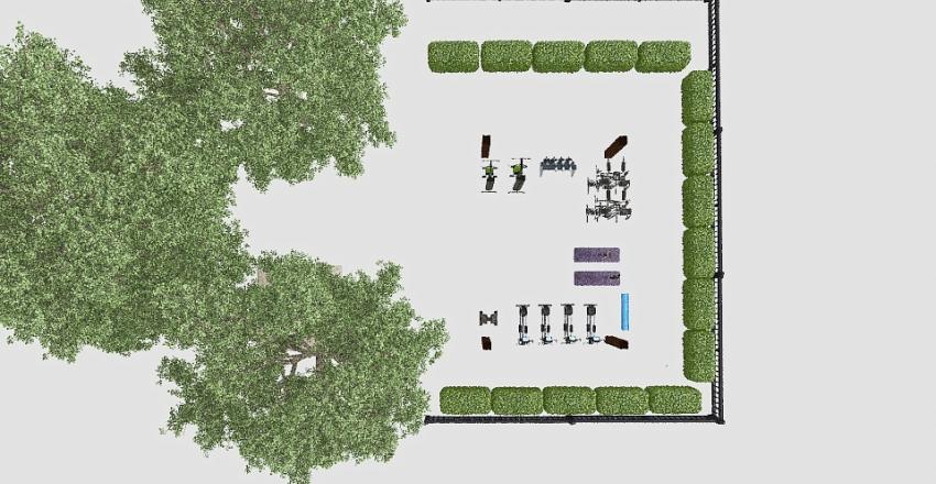 Green Gym Bactery Interior Design Render