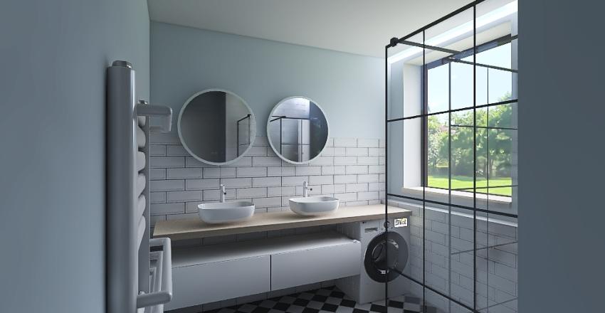 Kitchen white Interior Design Render