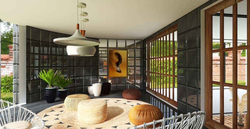 Classic house Interior Design Render