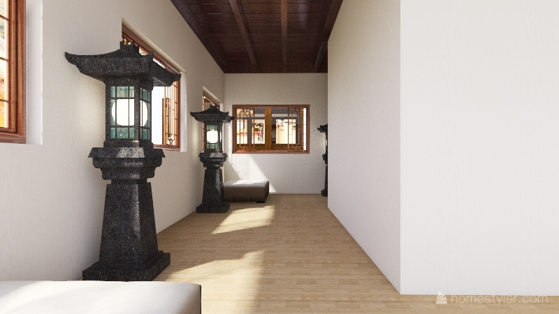 traditional japanese Interior Design Render