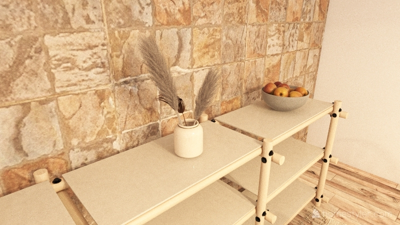 Bohemian Dining Room Interior Design Render