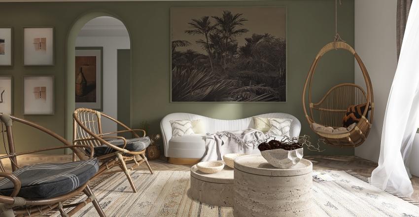 Shades Of Green Interior Design Render