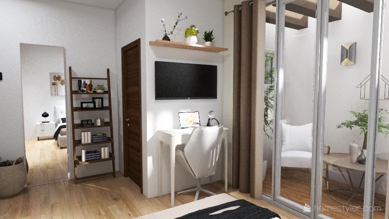 Casa pequena Interior Design Render