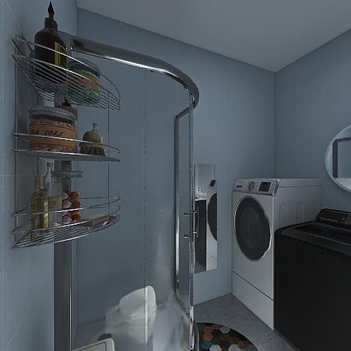 Boho Small and Cozy Interior Design Render