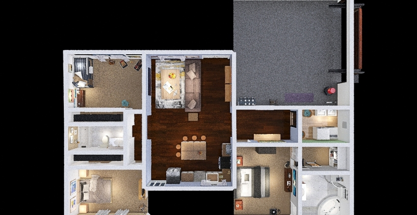 Alternative House Project Interior Design Render