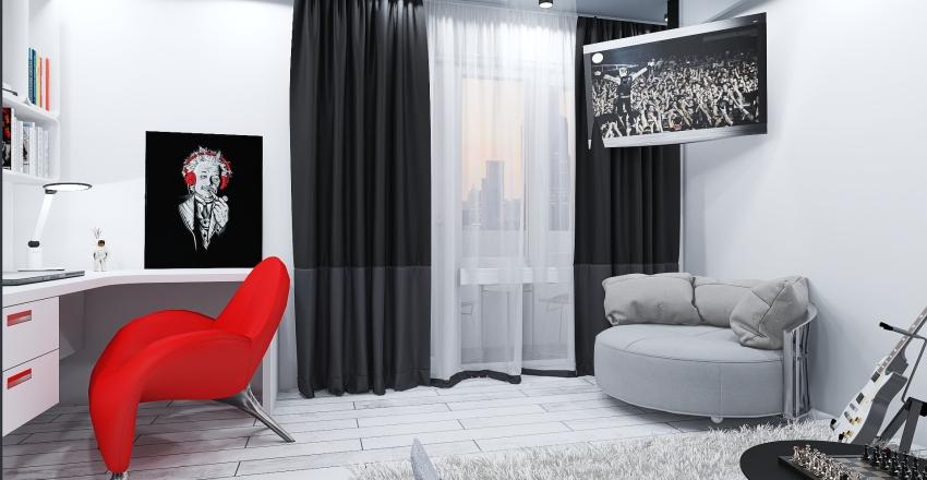 Small apartment for young man. Krasnoyarsk. Russia. Interior Design Render
