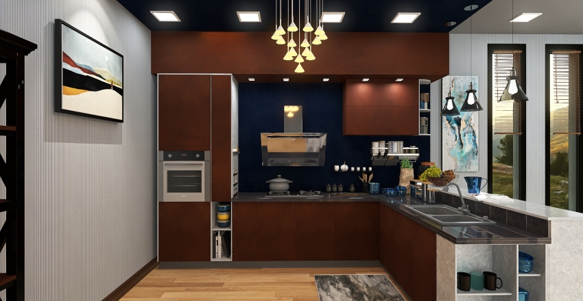 The Hunger Project (30 Sqm Kitchen/Dining) Interior Design Render