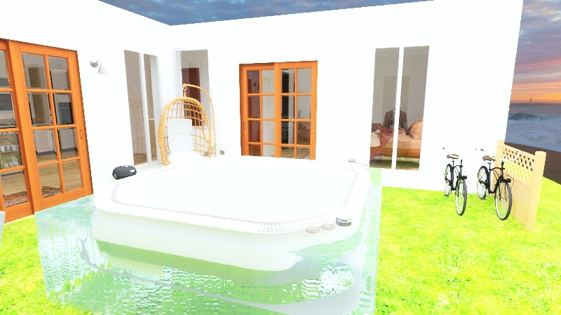 Family Vacation Home Interior Design Render