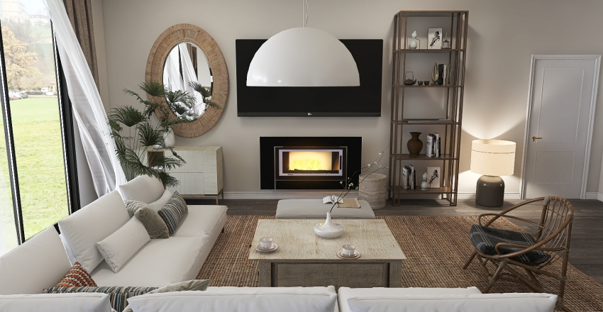 Cozy living Interior Design Render