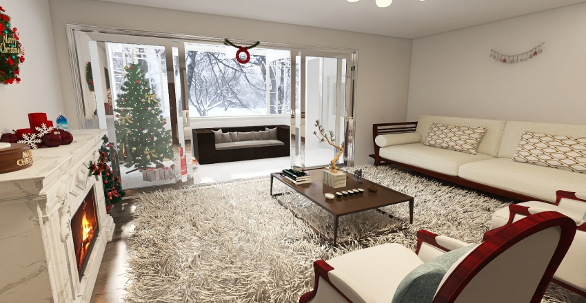 Christmas in the Swiss Alps Interior Design Render