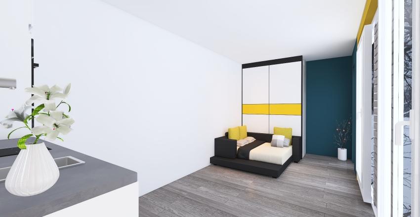 prefab home Interior Design Render