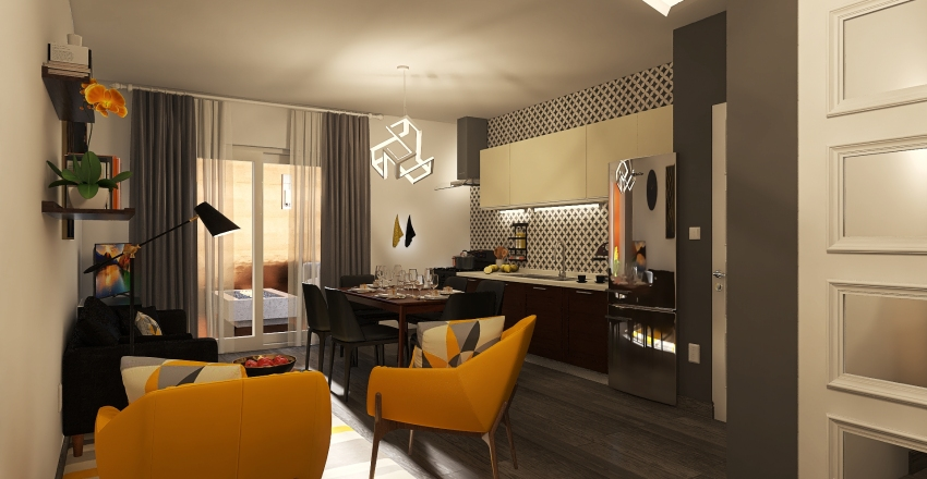 Condominio S_Appartamento 100 mq Interior Design Render