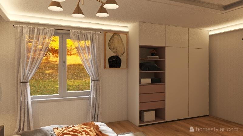 Modern house & suburban view Interior Design Render
