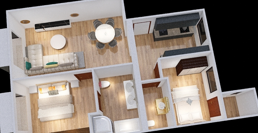 Monteléon 31 - ESTADO ACTUAL Interior Design Render