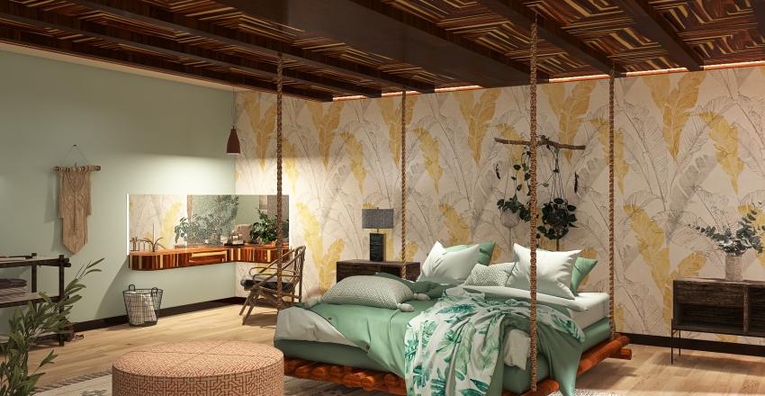 Bohemian Bedroom - Comfy Cozy Personal Paradise Interior Design Render