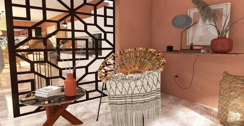 Bohemain style house Interior Design Render