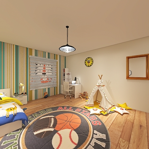 boy's room Interior Design Render