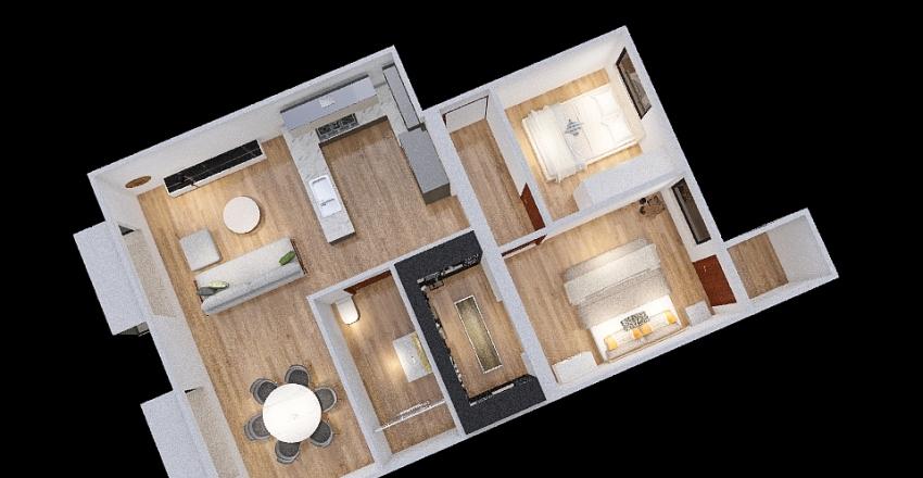 Monteléon 31 - Medidas reales v2 Interior Design Render
