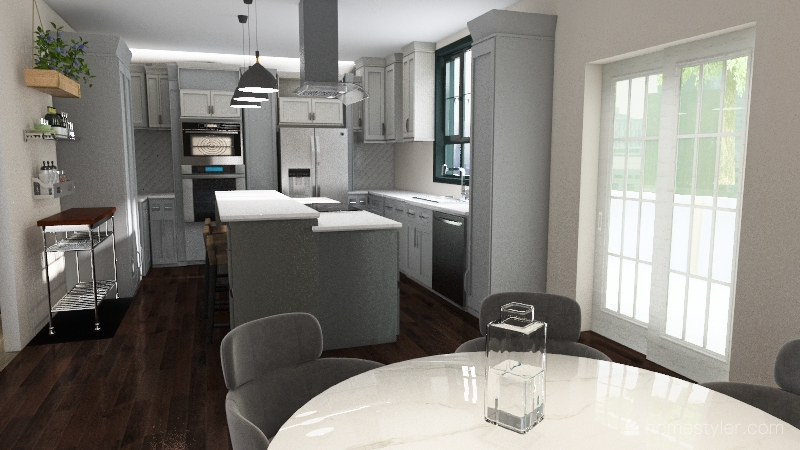 Kitchen One Pantry Interior Design Render