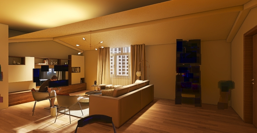 Small apatment Interior Design Render
