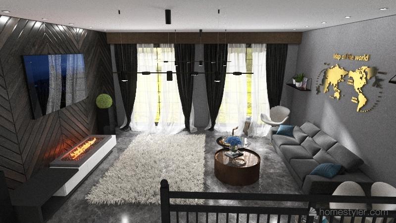 Modern style Interior Design Render