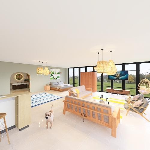 minimal home design Interior Design Render
