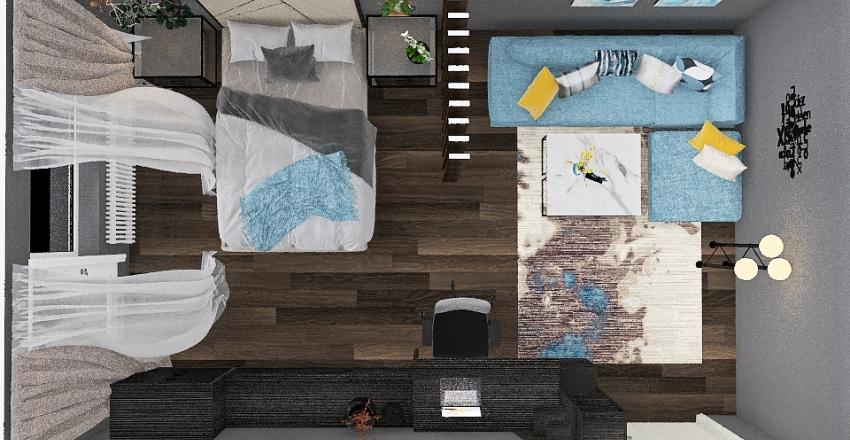 zal+spalnya Interior Design Render