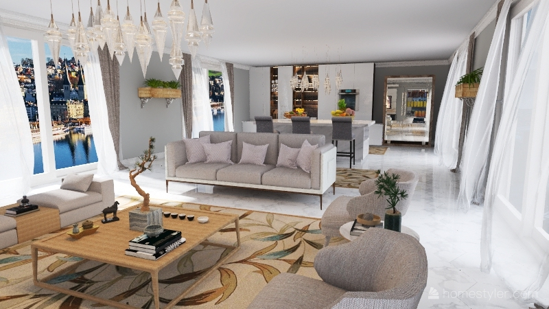 Clean Interior Design Render