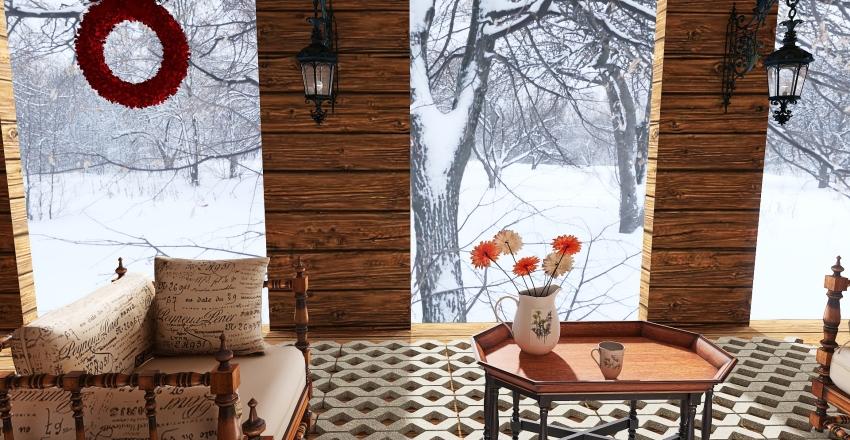 v2_chalet wood Interior Design Render