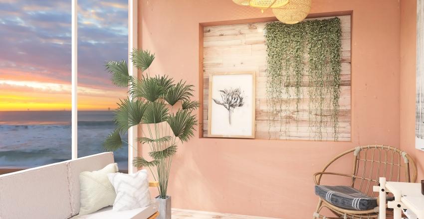clay seaside house Interior Design Render