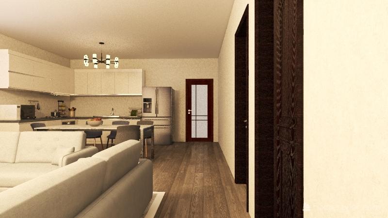 casa de un piso Interior Design Render