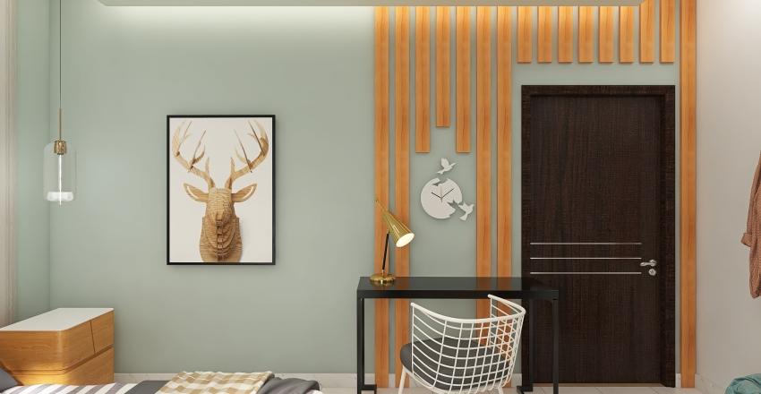 A Lady's BedROOM Interior Design Render