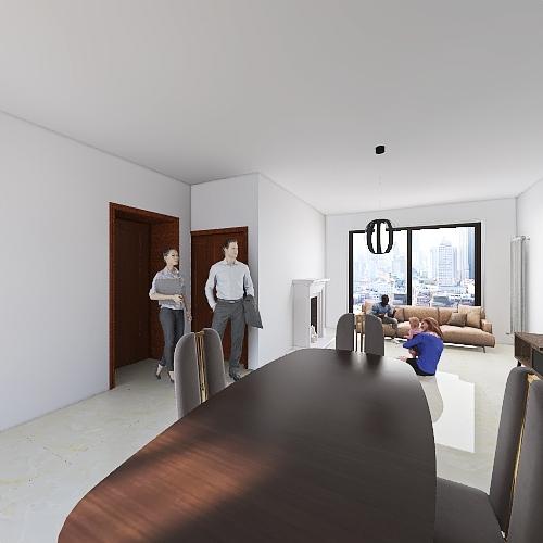 salone Interior Design Render