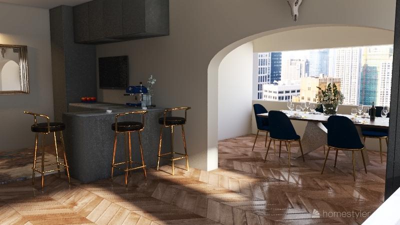 first kitchen dining 20/12/20 Interior Design Render
