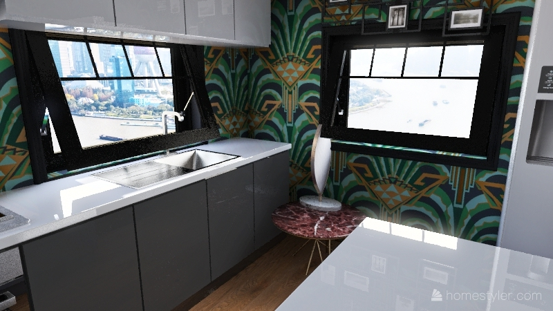 Art Deco Interior Design Render