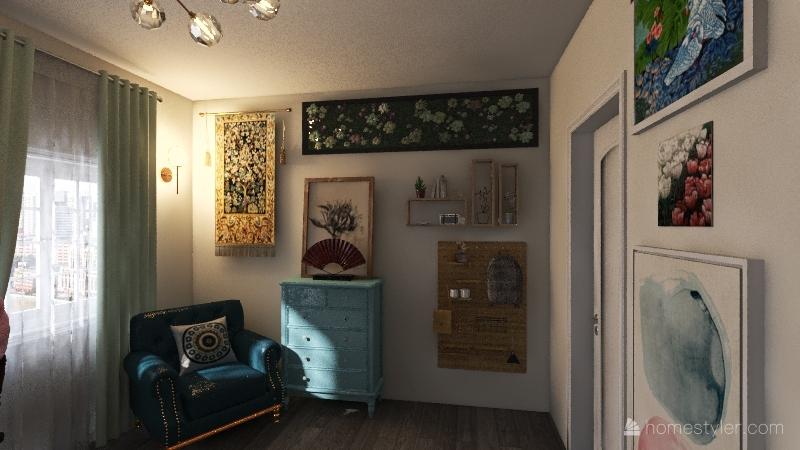 Little Girl's Room Interior Design Render
