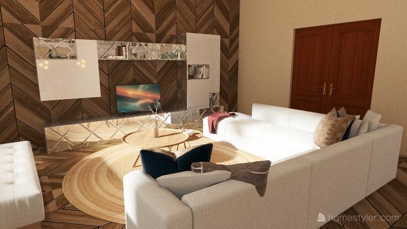 BOHO Interior Design Render