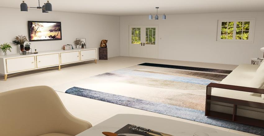 Casa Moderna e espaçosa Interior Design Render