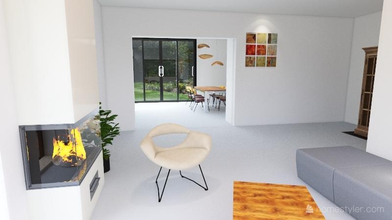 Tussenmuur Uitbouw IV- 6721BH3 Interior Design Render