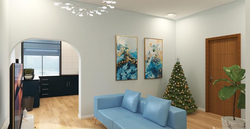 DESAFIO DA COR | AZUL Interior Design Render