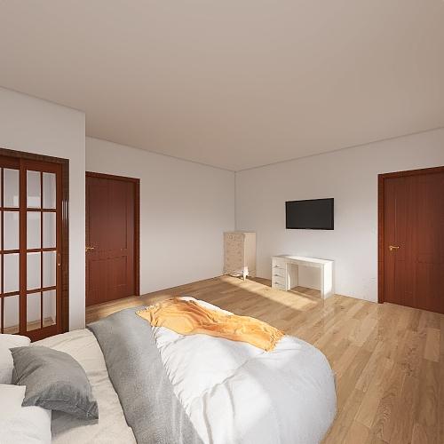 bedroom bath Interior Design Render