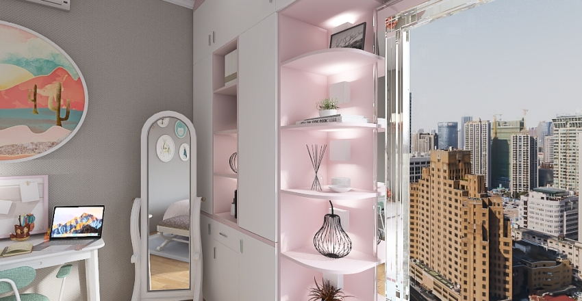 Chic Tiny House Interior Design Render