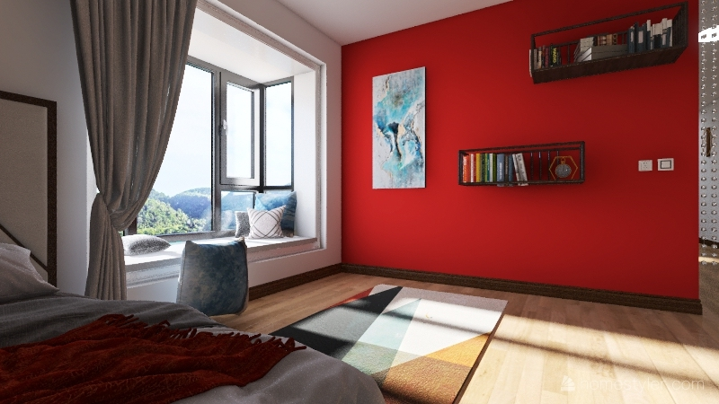 Small Beach Apartment Interior Design Render
