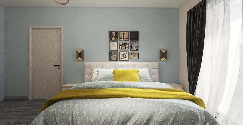 KR 4 szoba terv 201+202 Interior Design Render