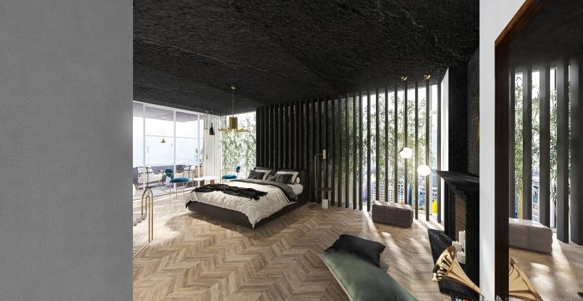 luxe apartment Interior Design Render