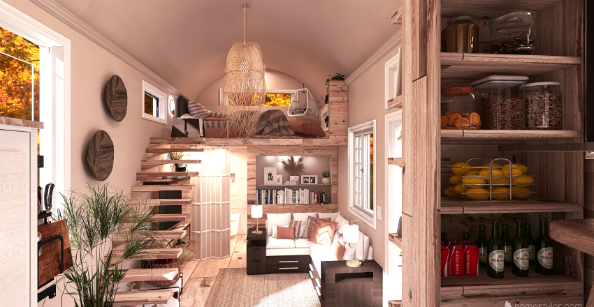 Mobile Home Interior Design Render