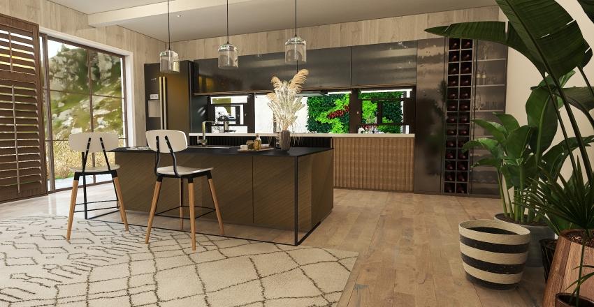 Natural rustic: City limits home  Interior Design Render