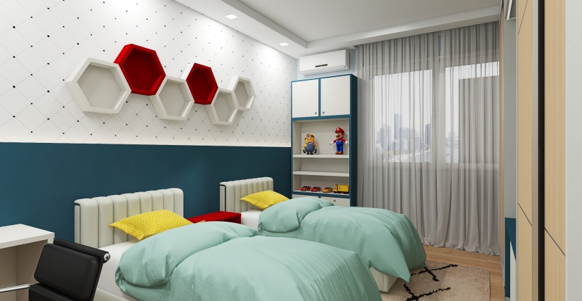 3 Copy 48 - Quarto menino - Thaís Artur de Oliveira Silva Interior Design Render