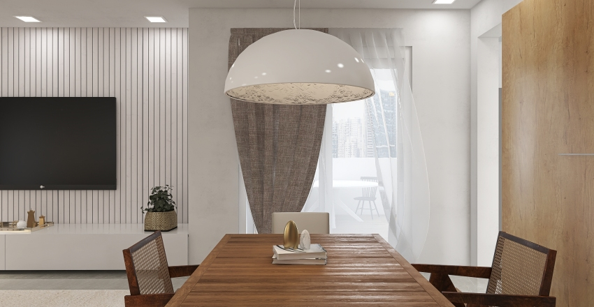J&N Cozy Home Interior Design Render
