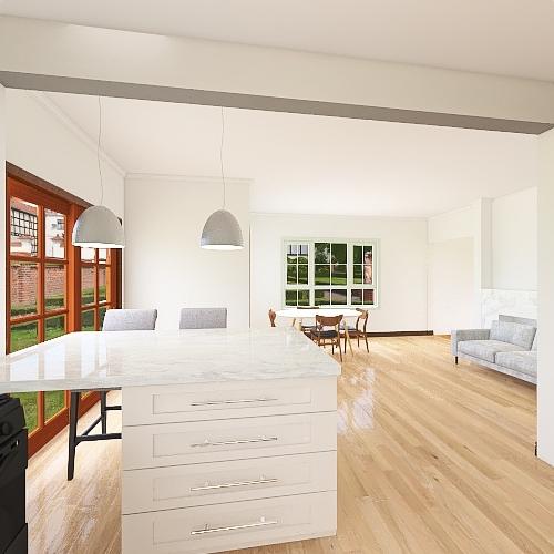 Peninsula w/ Colors Interior Design Render